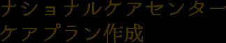 ナショナルケアセンター ケアプラン作成
